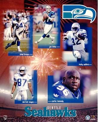 Seahawks 1999 Seattle Team Composite 8X10
