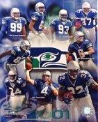 Seahawks 2001 Seattle Team Composite 8X10
