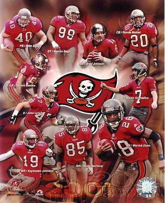 Buccaneers 2001 Tampa Bay Team 8x10 Photo