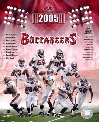 Buccaneers 2005 Tampa Bay Team 8x10 Photo