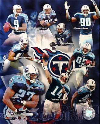Titans 2001 Tennessee Team 8X10 Photo