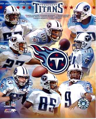 Titans 2003 Tennessee Team 8X10 Photo