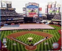 E3 Citi Field National Anthem 1st Game 2009 New York Mets 8X10 Photo