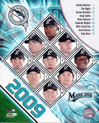 Marlins 2009 Florida Team Composite 8x10 Photo