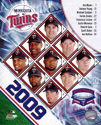 Twins 2009 Minnesota Team Composite 8x10 Photo