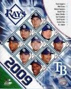 Rays 2009 Tampa Bay Team Composite 8X10 Photo