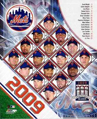 Mets 2009 New York Team Composite 8X10 Photo