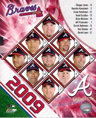Braves 2009 Atlanta Team Composite 8X10 Photo