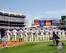 E3 Yankee Stadium 2009 Inaugural Game Line Up 8X10 Photo