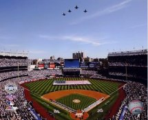 E3 Yankee Stadium 2009 National Anthem Inaugural Game Line Up 8X10 Photo