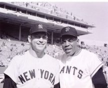 Willie Mays & Mickey Mantle New York Yankees 8x10 Photo