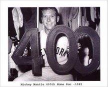 Mickey Mantle 400th Home Run 1962 Yankees 8x10 Photo