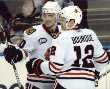 Rene Bourque Blackhawks G2 LIMITED STOCK RARE 8X10 Photo
