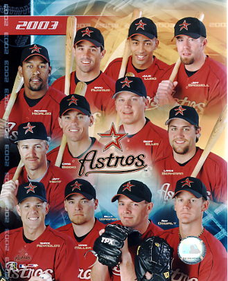 Astros 2003 Team Composite 8x10 Photo