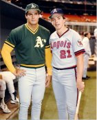 Wally Joyner & Jose Canseco LIMITED STOCK Anaheim Angels & Oakland A's 8X10 Photo
