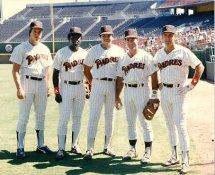 Steve Garvey, Tony Gwynn, Carmelo Martinez, Kevin McReynolds, Graig Nettles G1 Limited Stock Rare Padres 8X10 Photo