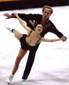 John Baldwin & Rene Inoue Ice Skating 8X10 Photo