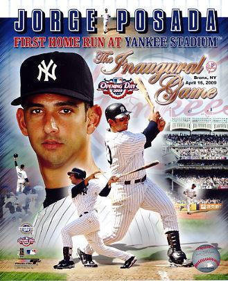 Jorge Posada 1st Home Run at Yankee Stadium New York Yankees 8X10 Photo  LIMITED STOCK -