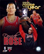 Derrick Rose 2008-2009 Rookie of the Year Chicago Bulls 8X10 Photo LIMITED STOCK