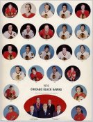 Chicago 1976 BlackHawks Original Team 8.5X11 Photo