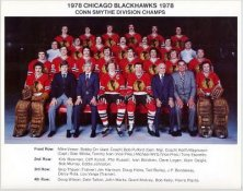 Chicago 1978 BlackHawks Conn Smythe Division Champs Original Team 8.5X11 Photo