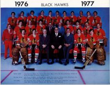 Chicago 1976-1977 BlackHawks Original Team 8.5X11 Photo