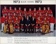 Chicago 1973 BlackHawks Original Team 8.5X11 Photo
