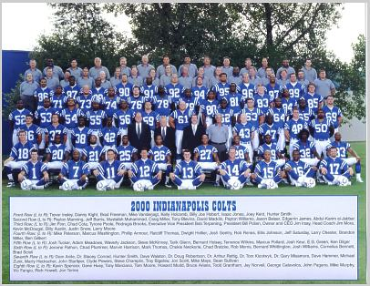 Colts 2000 Indianapolis 8.5x11 Team Photo LIMITED STOCK 8.5X11 Photo