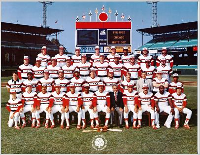 Chicago 1982 White Sox Team Limited Stock Rare  8.5X11 Photo