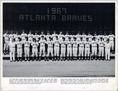 Braves 1967 Atlanta Team Limited Stock Rare CardStock  81/2X11 Photo