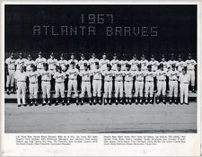 Braves 1967 Atlanta Team Limited Stock Rare CardStock  81/2X11 Photo