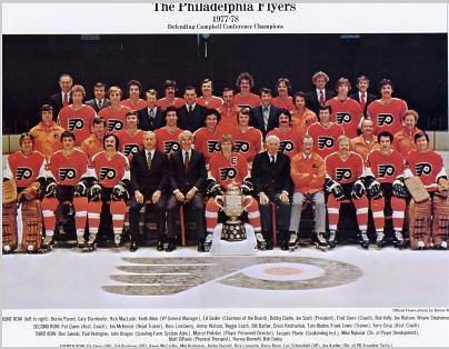 Philadelphia 1977-1978 Flyers 10x12 Photo