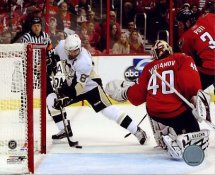 Sidney Crosby LIMITED STOCK Beats Varlamov 2009 Playoffs Pittsburgh Penguins 8x10 Photo