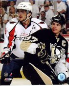 Alexander Ovechkin & Sidney Crosby LIMITED STOCK 2009 Playoffs 8x10 Photo