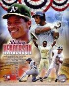 Rickey Henderson Oakland A's & Yankees Legends SATIN 8X10 Photo