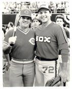 Pete Rose & Carlton Fisk G1 Limited Stock Rare Reds 8X10 Photo