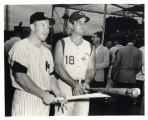 Mickey Mantle & Ted Kluszewski G1 Limited Stock Rare Yankees 8X10 Photo