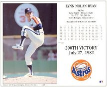 Nolan Ryan G1 Limited Stock Rare Cardboard Stock Astros 8X10 Photo