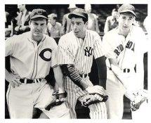 Joe Dimaggio, Ted Williams, Heath G1 Limited Stock Rare Yankees 8X10 Photo
