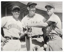 Ted Williams, Power & Runnels G1 Limited Stock Rare Red Sox 8X10 Photo