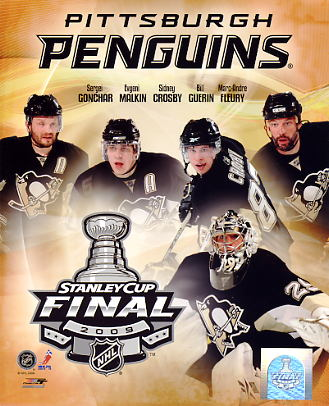 Pittsburgh 2009 Stanley Cup Composite Penguins 8x10 Photo