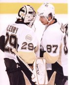Marc-Andre Fleury & Sidney Crosby Pittsburgh Penguins 8x10 Photo