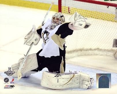 Marc-Andre Fleury Game 7 Save Stanley Cup Finals LIMITED STOCK Pittsburgh Penguins 8x10 Photo