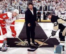 Mario Lemieux Ceremonial Puck Drop Game 3 Stanley Cup Finals 2009 Penguins 8x10 Photo