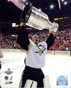 Marc-Andre Fleury with 2009 Stanley Cup Penguins 8x10 Photo LIMITED STOCK
