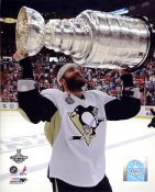 Max Talbot with 2009 Stanley Cup LIMITED STOCK Penguins 8x10 Photo