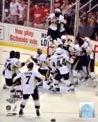 Pittsburgh 2009 Penguins Celebrate Stanley Cup Win Game 7 Penguins 8x10 Photo LIMITED STOCK