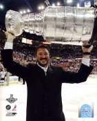Mario Lemieux with 2009 Stanley Cup Penguins 8x10 Photo