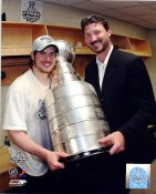 Mario Lemieux & Sidney Crosby with 2009 Stanley Cup Penguins 8x10 Photo