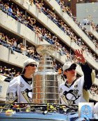 Sidney Crosby & Marc-Andre Fleury with 2009 Stanley Cup at Parade Penguins 8x10 Photo